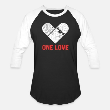 One ONE LOVE SKATEBOARDING SKATER - Unisex Baseball T-Shirt