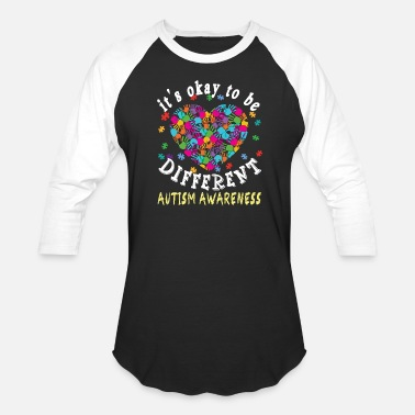Be Different it s okay to be different autism awareness - Unisex Baseball T-Shirt