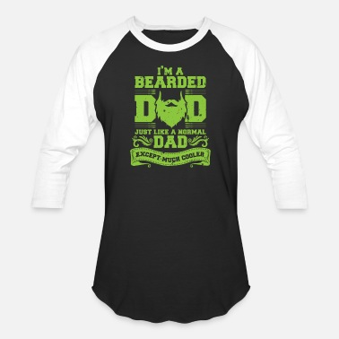 Beard Dad Bearded Dad - Unisex Baseball T-Shirt