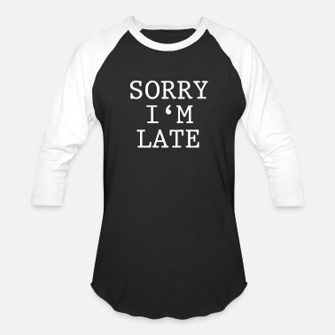 Pregnancy Sorry I am Late Pregnant Pregnancy baby bump - Baseball T-Shirt