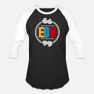 Abbreviation EOM abbreviation colored gift idea - Baseball T-Shirt