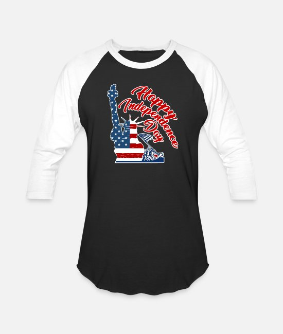Independence Day T-Shirts - 4th of july t-shirts - Unisex Baseball T-Shirt black/white