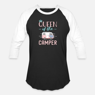 Queen Funny Queen Of The Camper - Unisex Baseball T-Shirt