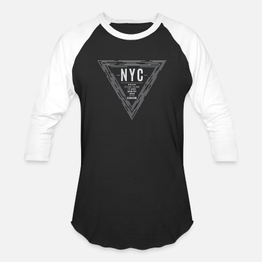Nyc Vintage NYC New York City Graphic Print - Unisex Baseball T-Shirt