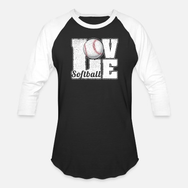 Black Softball SOFTBALL LOVE - Baseball T-Shirt