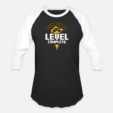 Grad School HIGH SCHOOL GRAD: High School Level Complete - Baseball T-Shirt