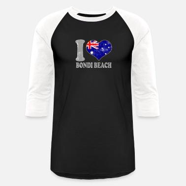 0908bd6f5c Bondi Beach I Love Bondi Beach Australia Australian Flag Pride - Unisex  Baseball T-Shirt