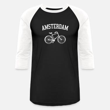 Amsterdam Amsterdam - Vintage Netherlands Bike Bicycle Gift - Unisex  Baseball T-Shirt 89eb8bd70