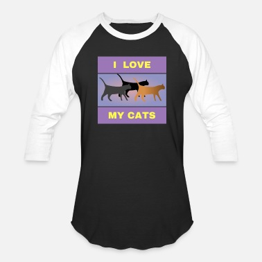 Lovely Cat i love my cats, cat love, love of cats, cat owner - Unisex Baseball T-Shirt