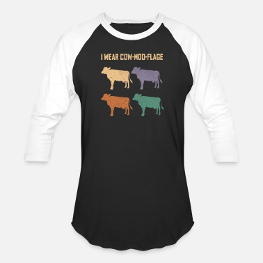 Cow Designs Cow Lover Farmer Design - Baseball T-Shirt