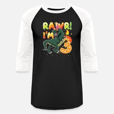 Dinosaur Birthday Shirt 3 Years Old Rawr I39m