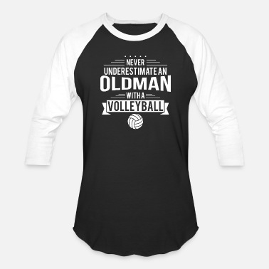 Volleyball Setter old man volleyball - Baseball T-Shirt