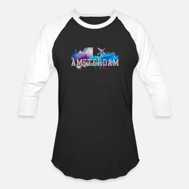 Souvenirs Amsterdam Watercolor Art Souvenir Gift - Baseball T-Shirt