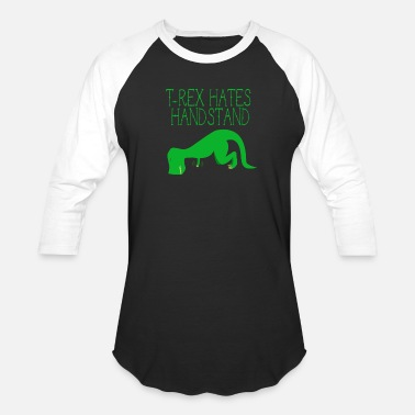 Handstand Funny Dino handstand sports arms funny - Baseball T-Shirt