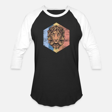 Lion Head Lion - Baseball T-Shirt