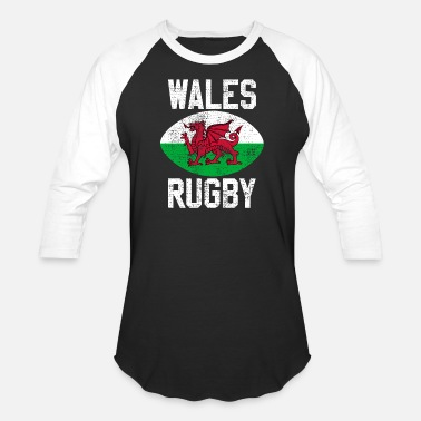 Wales Rugby Vintage Wales Rugby - Baseball T-Shirt