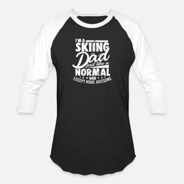 Skiing Dad Awesome Dad Skiing Ski Holidays - Baseball T-Shirt
