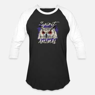 Owl Spirit Animal Spirit animal Owl bird gift - Baseball T-Shirt