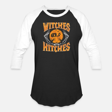Get Hitched Witches with Hitches - Baseball T-Shirt