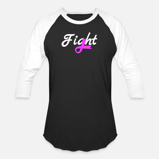 Fight T-Shirts - Fight Breast Cancer - Unisex Baseball T-Shirt black/white