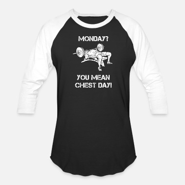 Chest Lift Chest Day Bench Bodybuilding Powerlifting Lifting - Baseball T-Shirt