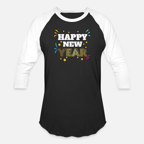 New Year T-Shirts - New Year - Unisex Baseball T-Shirt black/white