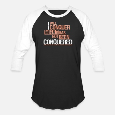 Man Conquer your body, Crossfit - Unisex Baseball T-Shirt