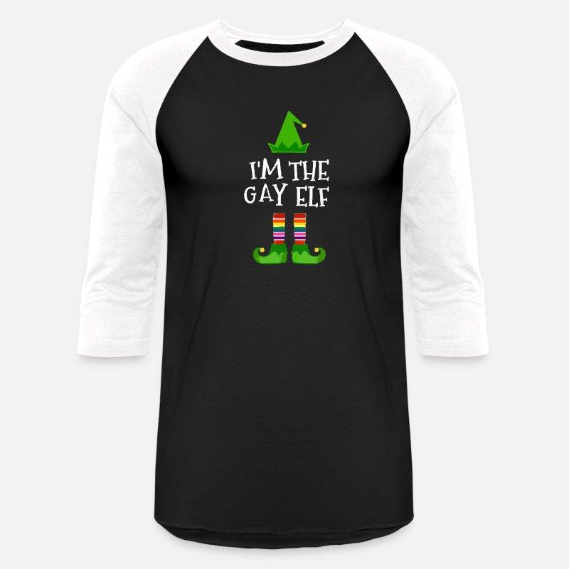 4d45bd5c2937 Unisex Baseball T-ShirtI'm The Gay Elf Matching Family Christmas Tee