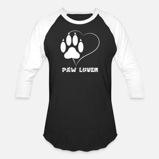 67ed3b3969ee Cat Paw Lover T-Shirt - Cute I Love Cats Heart Unisex Baseball T ...