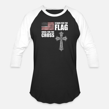 Crossfit Germany Stand For The Flag Kneel For The Cross T shirt - Baseball T-Shirt