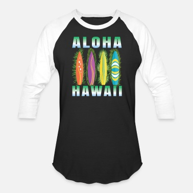 Hawaiian Food Hawaii Aloha surfboard surfer, hawaii, Birthday - Baseball T-Shirt