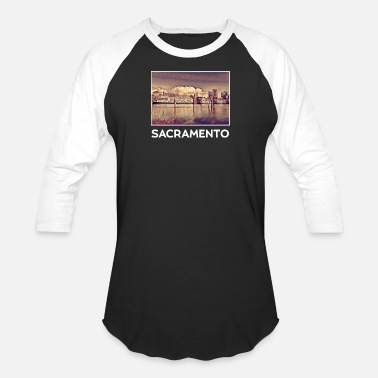 Sacramento City Sacramento City Skyline USA US - Baseball T-Shirt
