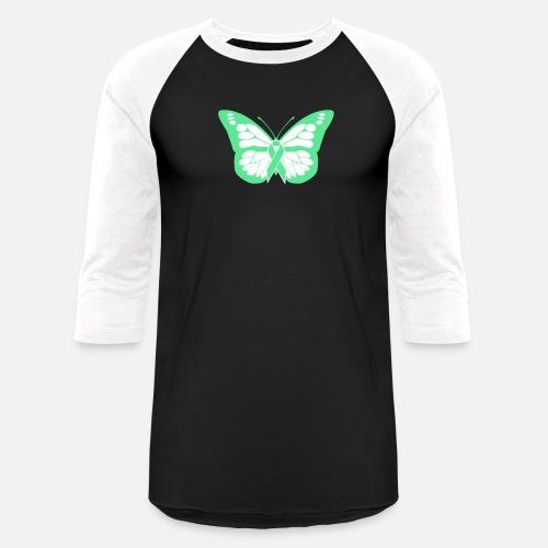 77a8a31f Butterfly - Non-Hodgkin's Lymphoma Awareness - Unisex Baseball T-Shirt.  Front