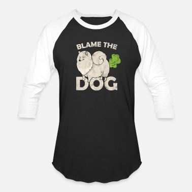 38585de6c3 blame the dog dog owner fart farting smell gift - Unisex Baseball T-Shirt