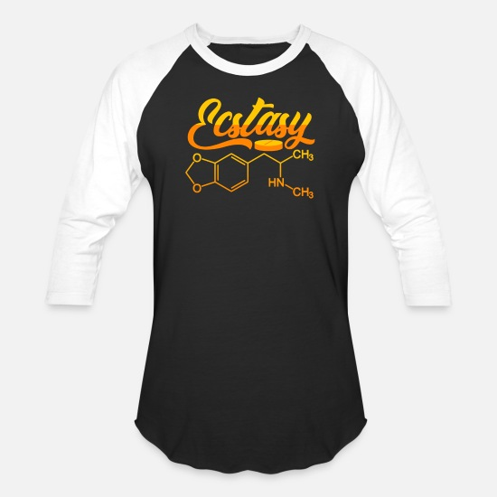 Mdma T-Shirts - Ecstasy stimulant drug tablet - Unisex Baseball T-Shirt black/white