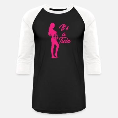 28e6f6ed Twin Girls Dad Twins Girls Volleyball - Unisex Baseball T-Shirt