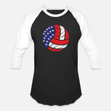 Volleyball USA - Unisex Baseball T-Shirt