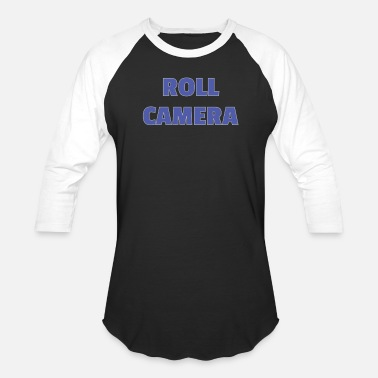 Operations Director Funny Roll Camera Filmmaker Gift for Directors and Crew - Unisex Baseball T-Shirt