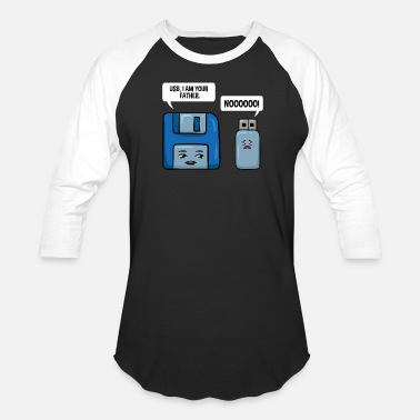 Usb Floppy Disc USB Data Nerd Computer Science Gift - Unisex Baseball T-Shirt