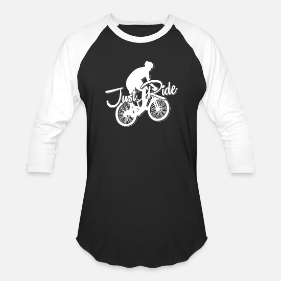 Bike T-Shirts - Mountain biking biker ride gift - Unisex Baseball T-Shirt black/white