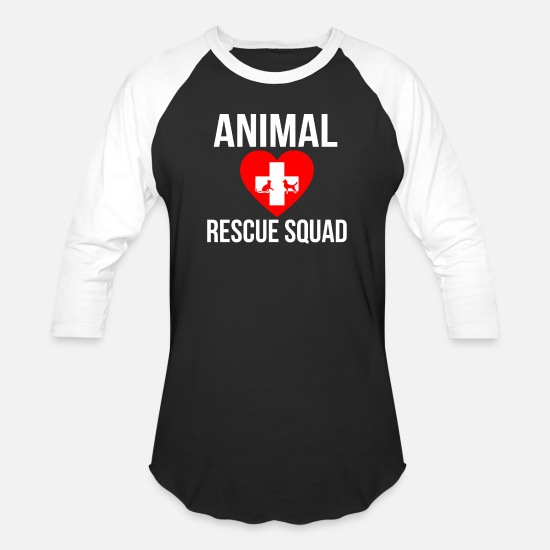 Rescue T-Shirts - Animal Rescue Squad Animal Love Animal Rights - Unisex Baseball T-Shirt black/white