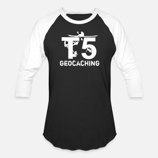 Geocaching T-Shirts - geocaching T5 gps adventure game - Unisex Baseball T-Shirt black/white