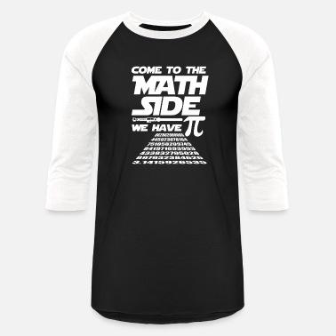 b142c5b5 Math Pi Dark Side pun funny gift - Unisex Baseball T-Shirt
