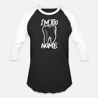 Numb Too Numb - Unisex Baseball T-Shirt
