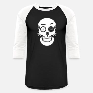 7ed25d90 Biker Skull Family Bike Skull Head Bicycle Riding Biker - Unisex Baseball T- Shirt
