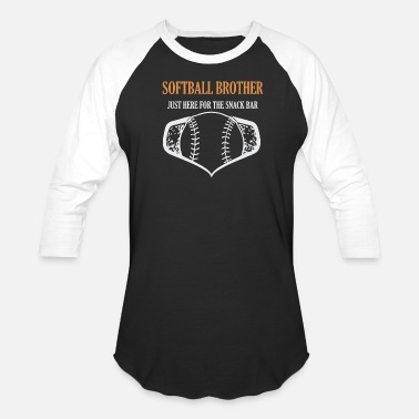 Softball Brother softball brother just here for the snack bar - Unisex Baseball T-Shirt