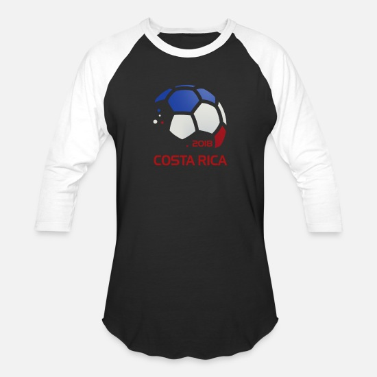 hot sales c1349 305f5 Costa Rica National Soccer Team Fan Gear Unisex Baseball T ...