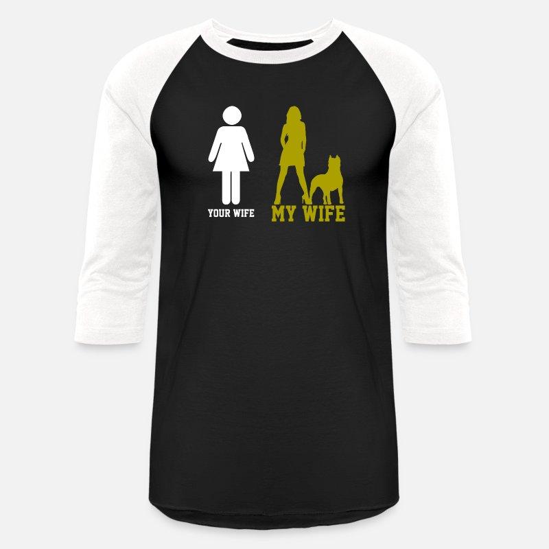 Pitbull Wife Family Dog Unisex Baseball T Shirt Spreadshirt
