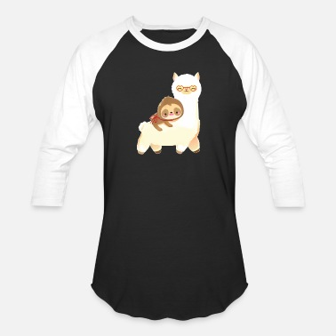Quotes Sloth Riding Llama Animal Gifts for Men Women Kids - Unisex Baseball T-Shirt