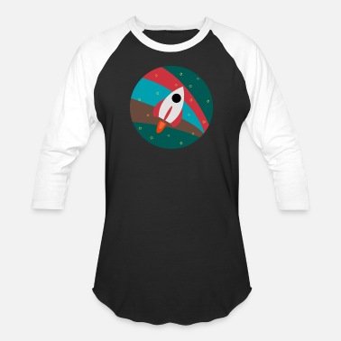 Rocket Ship Space Travel - Unisex Baseball T-Shirt